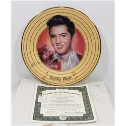 BRADFORD EXCHANGE ELVIS TEDDY BEAR COLLECTOR