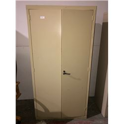 Locking metal cabinet 6 shelf