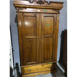 Antique wood wardrobe 1910