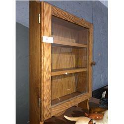 Small oak vanity cabinet