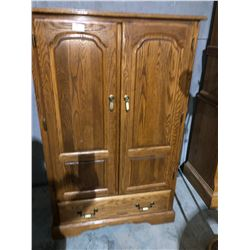 Oak Tall Boy dresser dark oak