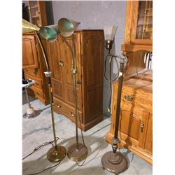 3 Antique floor lamps working