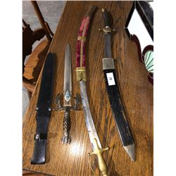 3 antique swords/bayonettes
