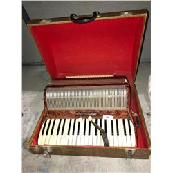 Old European made Accordian with case