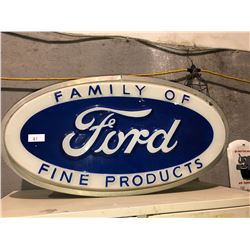 Ford sign with Busch Beer sign