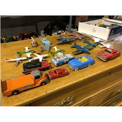 """Over 50 steel die cast """"dinky"""" toys 50's, 60's military toys plus Hot Wheels"""