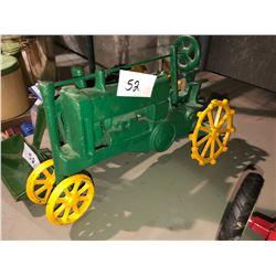 Tonka Toys, steel tractors, John Deere toy tractors all cast iron