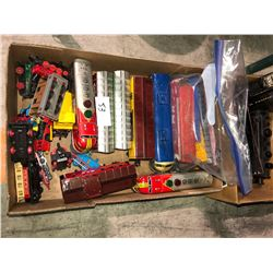 Two boxes electric toy trains