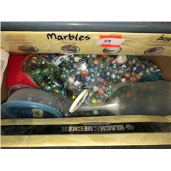 Approx 25 lbs of old marbles, sets, matching patterns