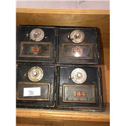 Mail boxes 1910-1919 with dial locks