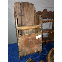 Very Rare Wood Grain scoop, yeast cakes, glob, 1920's recipe box, wood shelf, etc.