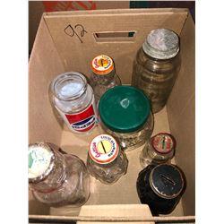 Collector hats, Jars, Pepsi Antique Caldrens, cookware