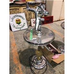 1950's chrome airplane ashtray, end table, electric, comes with additional plane
