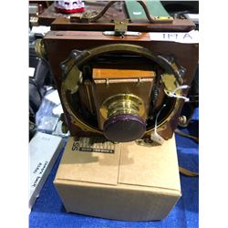 """Rare"" Coronet Wood Camera with Brass"