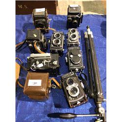 9 Yashica Walzflex Movie Cameras