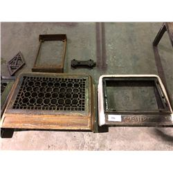 3 cast vent grates, xmas stand, old dead bolt 1800's