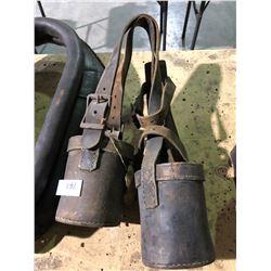 Horse collars, blinder, bits, hobbles 1800's (good shape)