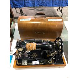 Portable electric Singer Sewing machine with case 1940's SN 6768830