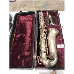 1930's Paris France made saxaphone with case (custom made)