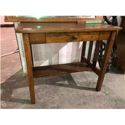 1930's library desk in oak