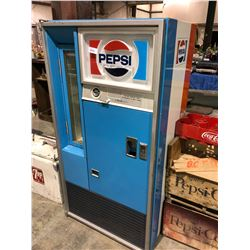 Pepsi upright cooler w/coke crates