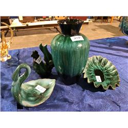 4 pieces of blue mountain pottery