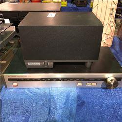Luxman stereo tuner, Altec lansing multi media computer speaker system & sub