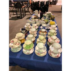 Approx 40 fine china teacups & saucers, Beswickware, plate sets, butter dish