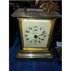 3 desk clocks, Breslin cowboy 8 day clock, Kramer Tractor