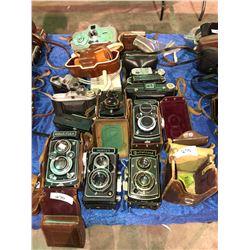 Rare 15 plus cameras, Rolleiflex, Ikoflex, Ikon, Zeiss, Rolleicord, German