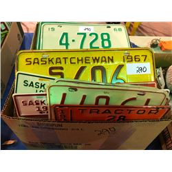 Over 140 License Plates from the 70's and newer, 1 - 1956 plate and 1 - 1962 plate