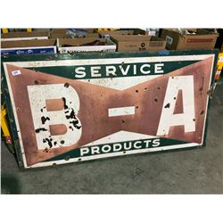 B-A products steel & porcelain sign 5 ft x 3.5 ft