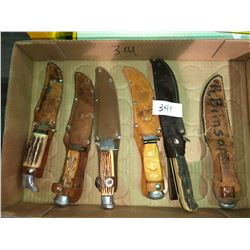 Antique & European hunting knives antler handles