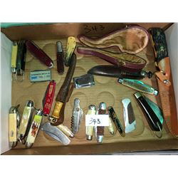 Collectible knives with, Coca Cola knife, Swiss, RCMP