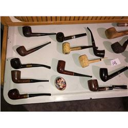 Various antique pipes for 30's to 60's