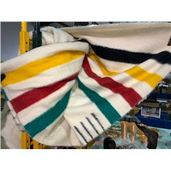 Original Hudson Bay Blanket, trade in markings