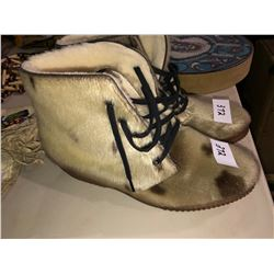 Unused ladies seal skin boots