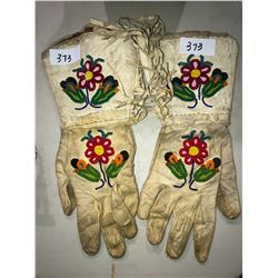 Very old native beaded western gloves
