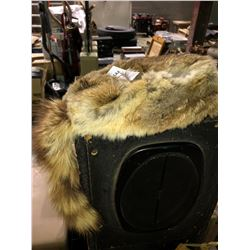 Fur coat w/ two fur hats