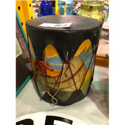 "First Nations hand painted drum set plus ""Red Indian"" oil plaque and memorabilia"