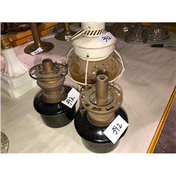 3 small lanterns