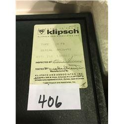 Klipsch speakers in boxes Heresy II Mod HFB
