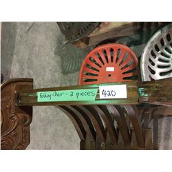 1800's folding chair