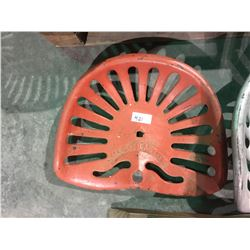 McCormick cast iron plow seat