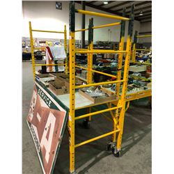 Liberty commercial metaltech adjustable scaffold w/ platform deck, 6 ft width, 1000lb capacity with