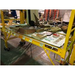 2 lots x (sets) Liberty commercial metaltech adjustable scaffold w/ platform deck, 6 ft width, 1000l
