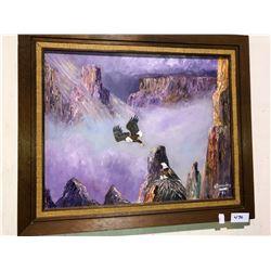 4 pieces of artwork, 2 H. Beadry paintings