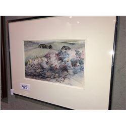"5 pieces of artwork, Don Li-Legr ""High & Mighty"", Wendy Lee ""White Ptarmigan"