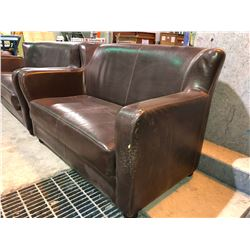 Brown Leather sofa & Loveseat