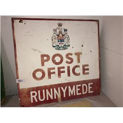 5 metal & plastic antique signs
